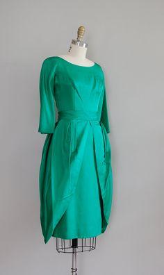 1950s green dress