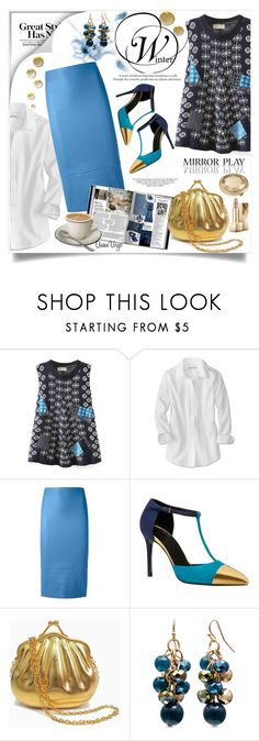 """""""Mirror Play"""" by queenvirgo ❤ liked on Polyvore featuring Scanlan Theodore, Gucci and Lucky Brand"""