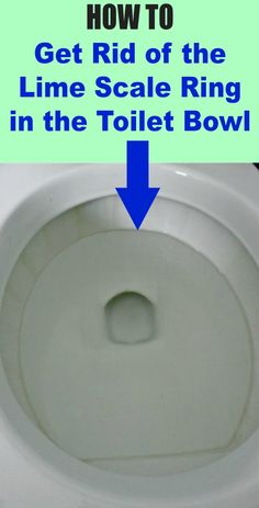 How to get rid of the lime scale ring in your toilet bowl