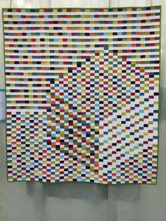 Rebecca Burnett's Fish and Vistors quilt at #QuiltCon2016 Quilt Show Modern Quilt Blocks, Modern Quilting, Aluminum Can Crafts, Quilting Designs, Quilting Ideas, Tumbling Blocks, Op Art, Optical Illusions, Quilt Making