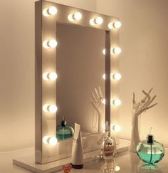 Vanity Mirror with Lights Ideas. Unique Vanity Mirror with Lights Ideas. 17 Diy Vanity Mirror Ideas to Make Your Room More Beautiful , Modern Mirror Design, Bathroom Mirror Design, Makeup Vanity Mirror, Vanity Mirrors, Bathroom Small, Bedroom Mirrors, Bathroom Interior, Bathroom Ideas, Makeup Organization