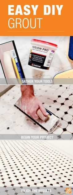 The Home Depot has all the tools and supplies you need to tackle a DIY tile and grout project. Get stain proof and color perfect grout with Fusion Pro® Grout. It's easy to use and comes in 40 different colors. Click through to learn more!