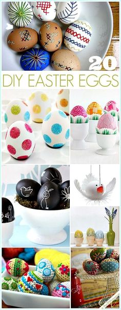 20 Easter Egg Tutorials - Super cute, and some are so simple and easy to make! Hoppy Easter, Easter Bunny, Easter Eggs, Spring Crafts, Holiday Crafts, Holiday Fun, Egg Crafts, Easter Crafts, Easter Ideas