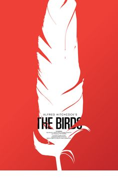 """Saul Bass """"The Birds"""" movie poster. Ok, so this is Saul Bass . Buch Design, Graphisches Design, Design Ideas, Clever Design, Design Graphique, Art Graphique, Saul Bass Posters, Art Posters, The Birds Movie"""