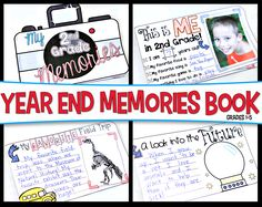 Looking for an EASY, NO-PREP End of the School Year Memory Book?  If so, look no further. This End of the Year Memory Book will be treasured by your students and parents for years to come. Perfect for Grades 1-5.