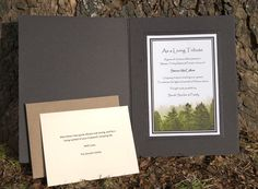 A Living Tribute. Plant a tree or trees in memory of your loved one, starting rate $25.00