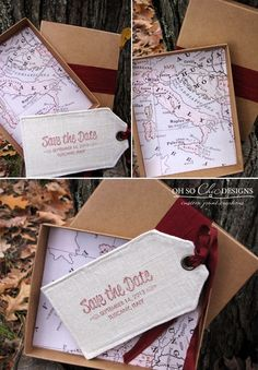 Destination Wedding: Tuscany Italy Save the Date by Oh So Chic Designs