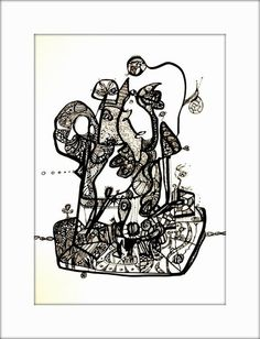 HäkelBild IX von Etelka Kovacs-Koller - mad for art auf DaWanda.com Illustration, Artworks, Mad, Playing Cards, Etsy, Drawing S, Playing Card Games, Illustrations, Game Cards