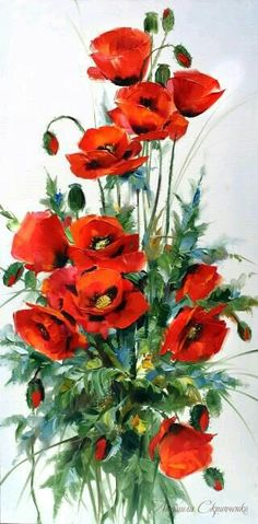 Now bring the painter in you come to life by creating this Red Crown diamond painting kit Watercolor Flowers, Watercolor Paintings, China Painting, Arte Floral, Red Poppies, Flower Art, Poppy Flower Painting, Poppies Painting, Beautiful Flowers