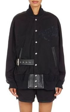 Sacai Leaf Lace Bomber Jacket at Barneys New York