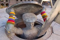 City knitting: an urban Craft Phenomenon.                              As we say:     Less  is More.                                           I prefer that one.