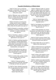 Peygamber Efendimiz Hz Muhammed(S.A.V) Dilinden Dualar 1