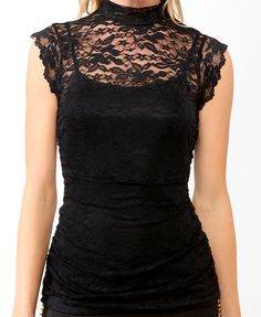 Ruched Lace Top | FOREVER21 - 2030188037