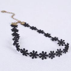 Black Floral Lace Choker   2.50 DOLLARS   AliExpress
