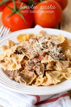 Bowtie Pasta with Italian Sausage
