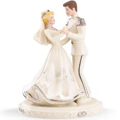 Lenox Disney Cinderella Prince Wedding Love Cake Topper Figure 836612 1st Dance | eBay