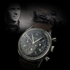 Jim Clark is considered as the greatest Formula One driver that ever competed. The watch shown is the Gallet MultiChron model 12 that Jim Clark wore to the track the year that he won the 1965 indianapolis 500.