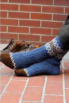 Ravelry: Border Socks pattern by Mary Jane Mucklestone