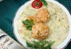 Lucskos káposzta 3. - kapros, húsgombóccal recept képpel. Hozzávalók és az elkészítés részletes leírása. A lucskos káposzta 3. - kapros, húsgombóccal elkészítési ideje: 85 perc Hungarian Recipes, Potato Salad, Mashed Potatoes, Food And Drink, Chicken, Ethnic Recipes, Diet, Bulgur, Whipped Potatoes