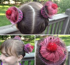 Get Inspired For Wacky Hair Easy Crazy Hair Day Ideas Crazy Hair Day Girls, Crazy Hair For Kids, Crazy Hair Day At School, Days For Girls, Crazy Hair Days, Crazy Girls, Kids Girls, Childrens Hairstyles, Little Girl Hairstyles