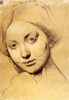 Study for Louise de Broglie, c1845, Jean Auguste Dominique Ingres, drawing, France