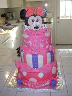 Image detail for -Minnie Mouse 1st birthday by olmarejohnson on Cake Central