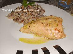 Cinco sentidos na cozinha: Peito de frango no forno com mostarda e arroz de 3...