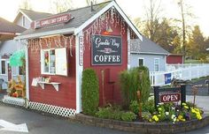 Gamble Bay Coffee often has customers come through the drive-through on horse back.  (360) 297-4787.
