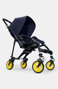 A compact, lightweight and exceptionally well-designed stroller is built to keep baby safe and comfortable on urban adventures, while updated fluorescent hues add style. The reversible, ergonomic seat with five-point harness adjusts to four different recline positions and accommodates infants and toddlers up to 37 pounds.