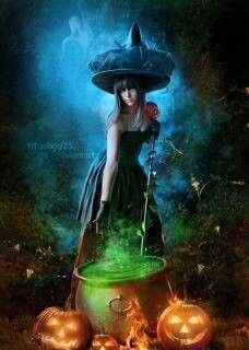 Pretty Witch GoddessHola And Happy Halloween To All The LIGHT