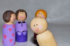 My kids love Peg Dolls. Princess Newbie is constantly finding them around the house and walking around with them in her hands. They are the perfect gift to give to little girls for Christmas or to stick in stockings. Last year I made them... #christmasgift #handmadechristmasgiftideas #handmadegift