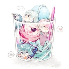 pixiv is an illustration community service where you can post and enjoy creative work. A large variety of work is uploaded, and user-organized contests are frequently held as well. Anime Chibi, Kawaii Anime, Anime Art, Touken Ranbu, Chibi Food, Hand Drawing Reference, Cute Food Art, Cute Food Drawings, Cute Chibi