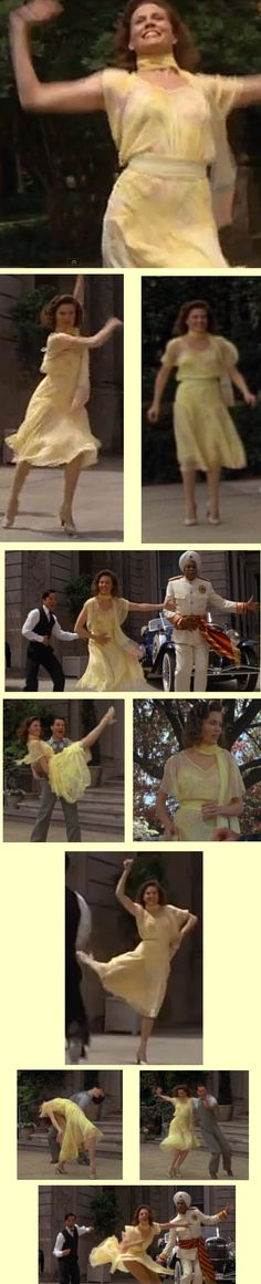 "Ann Reinking as Grace in ""Annie"". Love this gorgeous yellow chiffon dress."