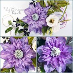 {This double-blue Clematis astonishingly beautiful!!! It was created by PETUNYALARIM}