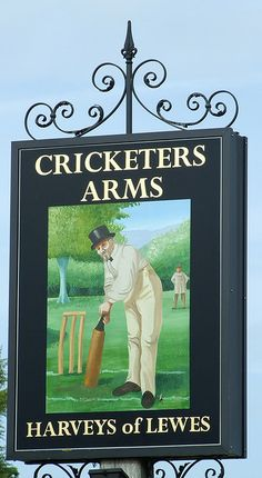 The Cricketers Arms Berwick East Sussex Pub Sign by pondhopper1, via Flickr
