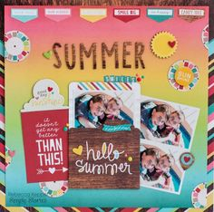 This bright layout was designed by Rebecca Keppel and used the Good Day Sunshine collection from Simple Stories.