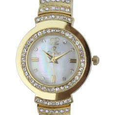 2013 New Design Ladies Wrist Watch Round case with Czech Crystals Japan Miyota 2035 Movement 15605 Season Clearance $64.26