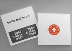 Business Card Template   TOI Design   Swiss Button