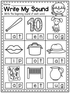MEGA Phonics Worksheet Bundle - Pre-K Kindergarten by My Teaching Pal Beginning Sounds Worksheets, Pre K Worksheets, Free Kindergarten Worksheets, Kindergarten Readiness, Phonics Worksheets, Homeschool Kindergarten, Phonics Activities, Preschool Learning, Preschool Activities