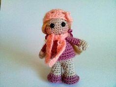 Crochet Little Doll Hand Knit Doll Plush Doll  Knitted Doll