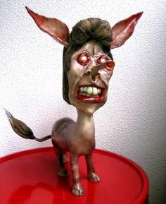 Another spectacular Plastimake sculpture by Simon Scheuerle. This creature's name is Manilow.