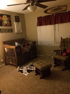 Cowboy nursery for baby boy. #western