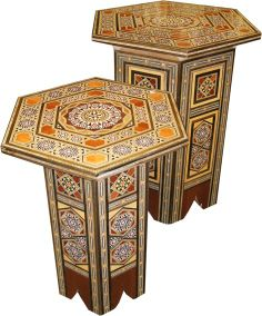 Marchetaria Moroccan Side Table, Oriental, Center Table, Decorative Boxes, Interior, Home Decor, Marquetry, Wood, Mesas