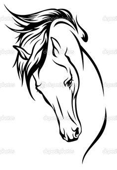 silueta caballo vector - Buscar con Google