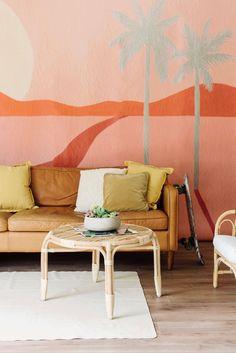 Bohemian Wallpaper, Tropical Wallpaper, Prepasted Wallpaper, Wall Wallpaper, Wallpaper Ideas, Bedroom Themes, Bedroom Wall, Kids Bedroom, Bedroom Decor