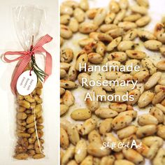 Hand made rosemary almonds hostess gift