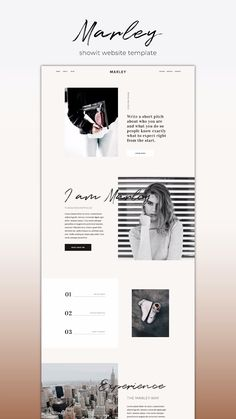 Completely Customizable Designer-Made Showit Website Template for stylish creatives who value minimal design and maximal results. page Showit Website Template Marley Design Websites, Web Design Trends, Site Web Design, Ui Design, Email Design, Blog Website Design, Clean Web Design, Modern Web Design, Flat Design