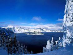 Crater Lake, Parc National - Oregon - Euclide : Qui veut détruire commence par rendre fou. Chi vuole distruggere, prima lo rende pazzo.