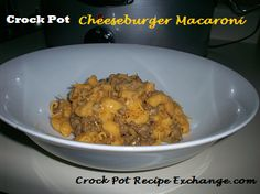 Crock Pot Recipe Exchange: Crock Pot Cheeseburger Macaroni