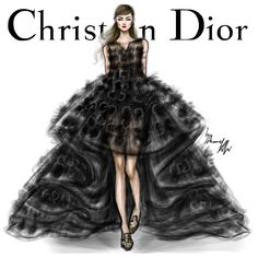 Christian Dior Spring 2014 Couture (Paris) #Dior #fashion #illustration #fashionillustration #artwork #art #artist #creative #style #dress #colorful #masterpiece #love #Paris #girl #model #shamekhbluwi #Gown #Couture #HauteCouture #2014
